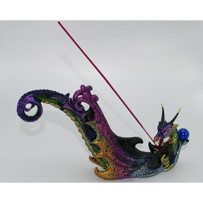 Porte-encens  Dragon Multicolore